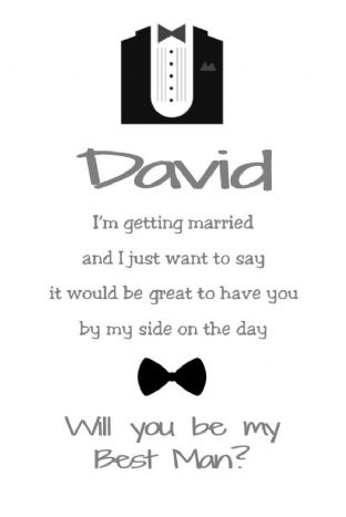 Will you be my Best Man Card Design 3